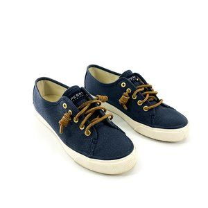 Sperry Navy Canvas Vulcanized Sneakers